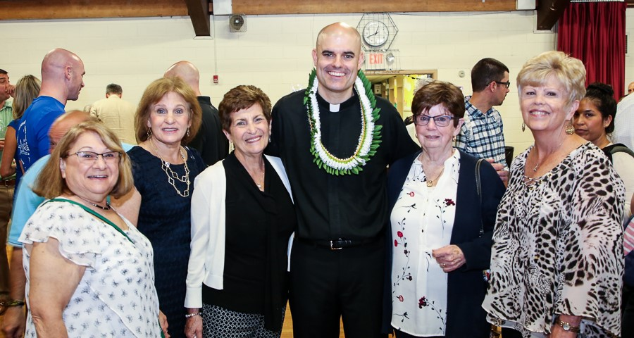 Fr. Nolan with Teachers