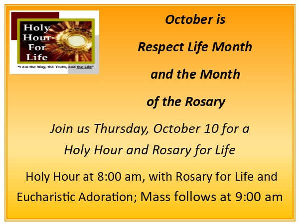Rosary and Holy Hour for Life